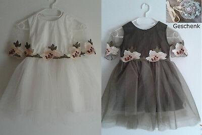 Mädchen Kleid Elegant Party Hochzeit Besondere Anlässe Blumen Tütü  Haarreif (Mädchen Besondere Kleider)