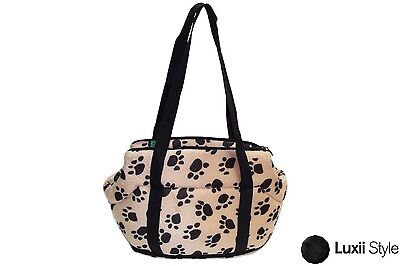 Small Soft Plush Pet Carrier Bag Purse w/ Zipper Hard Bottom & Security Clip Dog