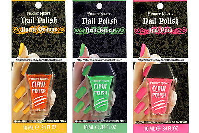 FRIGHT NIGHT* Nail Color CLAW POLISH Halloween Collection *YOU CHOOSE*Carded 2/9 - Halloween Claw Nails