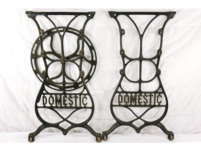 Antique Cast IronTable Legs; Domestic Treadle                              (265)