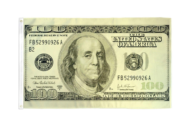 hundred dollar bill flag money banner 100
