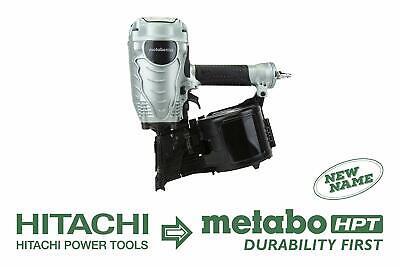 """Hitachi METABO HPT NV90AGS NEW 16-Degree 3-1/2"""" Coil Air Fra"""