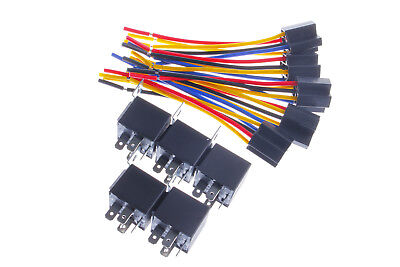 Spdt Car Relay Dc 12v 3040a Automotive 5 Pin 5 Wire Harness Socket Us Stock