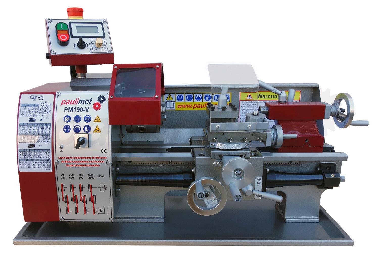 PAULIMOT Drehbank / Drehmaschine PM190-V mit frequenzgesteuertem deutschen Motor