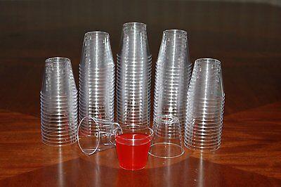 100 Shot Glasses Hard Plastic 1Oz Mini Wine Glass Party Cups Free Shippin1