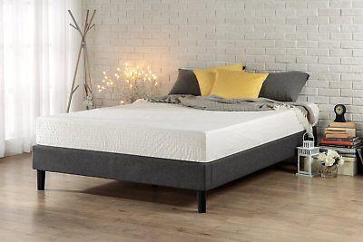 Zinus Essential Upholstered Platform Bed Frame / Mattress Fo