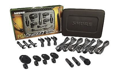 Shure PGADRUMKIT7 7-Piece Professional Drum Microphone Kit With Case   NEW