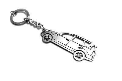 Keychain for SsangYong Rexton II Key Ring Car Design Coche Llavero Colgante Inox