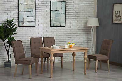 Oliver Smith Roosevelt Collection 5 Piece Dining Set With Dark Brown Grey (5 Piece Dining Collection)