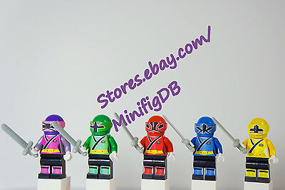 Power Rangers Set of 7 Minifigs Mighty Morphin Building Toy Free USA Ship