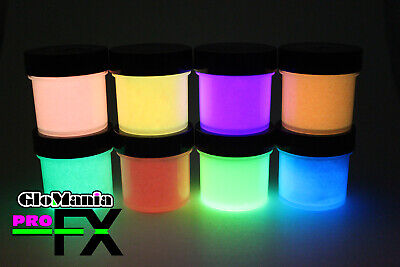 GLOW in the DARK Daytime Visible & UV Reactive Paints 1oz pots Art Craft - Glow Paint