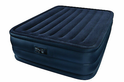 Intex Recreation Raised Downy Queen Inflatable Mattress A...