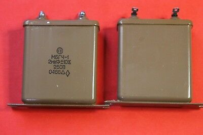 Capacitor Pio Mbgc-1 250v 2uf 10 Ussr Lot Of 4 Pcs