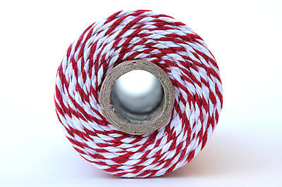 12 Ply Red Bakers Twine 100 yard spool 12 Ply Thick Cotton String
