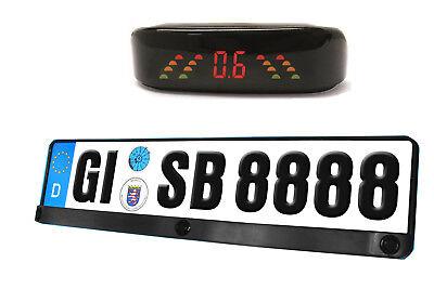 Einparkhilfe Kennzeichen Nummernschild Halter Halterung Rückfahrwarner Auto KFZ