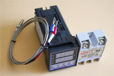 Digital Pid Rex-c100 Temperature Controller Max.40a Ssr K Thermocouple 1m