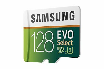 Samsung 128GB Micro EVO select U2 SD card for Akaso V50 Pro elite EK7000 Brave 4 ()