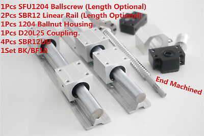 2pcs Sbr12 Linear Rail1pcs Sfurm1204 Ballscrew Kit For 3d Printer Optional