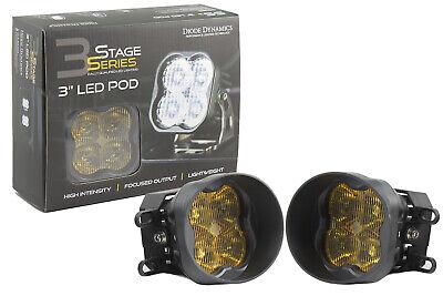 SS3 LED SAE/DOT Type B Fog Light Kit Pro Fog Optic Yellow Diode Dynamics