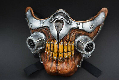 Mad Max Airsoft Paintball BB Gun Half Face Mask Cosplay Halloween Protect Gear