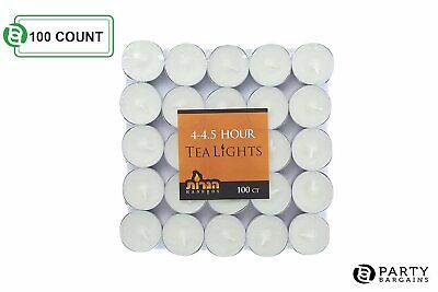 - Tea Lights White Decorative Candles Unscented Candle Long Lasting - Pack of 100