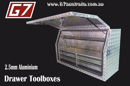 Aluminium Toolboxes with 2,4,5 and 6 Drawer Ute truck tool