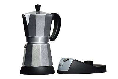 6 Cup  Espresso Electric Coffee Maker, 480 W, Silver Color