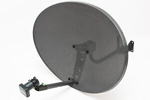SKY FREESAT SATELLITE DISH 80CM QUAD LNB !! ASTRA HOTBIRD HD PVR ZONE 2