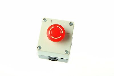 Red Sign 660v10a Emergency Stop Push Button Switch 1x Us Stock