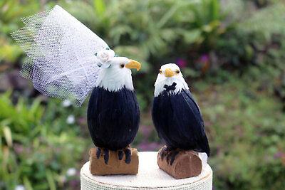 American Bald Eagle Wedding Cake Topper: Bride & Groom Cake Topper