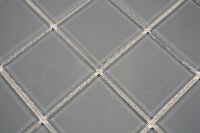 Mosaico piastrelle vetro traslucido cristallo grigio cucina