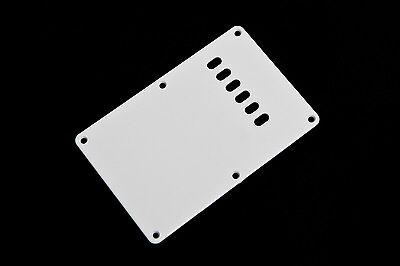 White Back Plate Tremolo Cover - Tapa trasera blanca para guitarra eléctrica