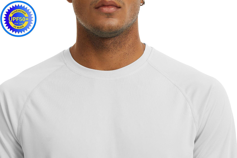 Men's UPF 50+ UV Protection Long Sleeve T-Shirt Sun Block Casual Fishing Shirts 4