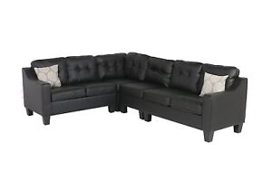 large black leather couch adjustable sectional modern quality new