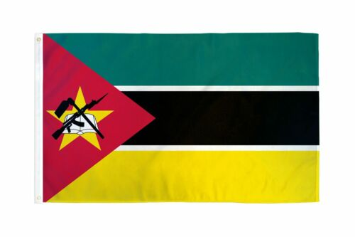 The flag of Mozambique, horizontal tricolour, 3 X 5 ft Condition is BRAND NEW !