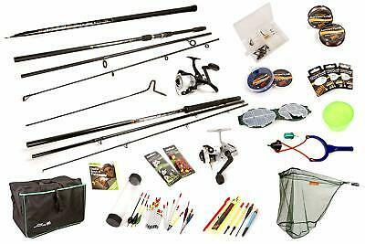 Matt Hayes Coarse Fishing Set 2 Rods 2 Reels Pole Net All Tackle Included 514856