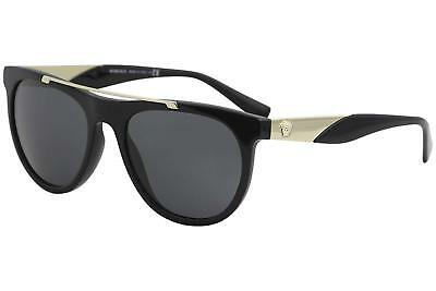 Authentic Versace Sunglasses VE4347 GB1/87 56mm Black-Gold / Grey Lens