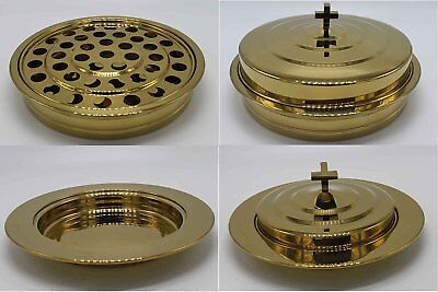 Brasstone  Stainless Steel Communion Tray Set   Cup Tray  Bread Tray And Filler