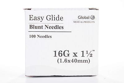 Global Medical Easy Glide Blunt Tip Needle 16 Ga X 1 12 Tip 100 Pcs