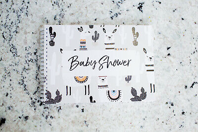 Baby Shower Sign In Book (Baby Shower Book, Guest Predictions,  Best Wishes for Baby, Baby Shower Sign)