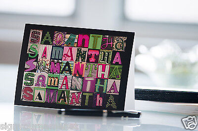 Personalized Notecards Featuring ANY NAME in Letters from Photos of Signs