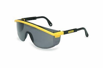 Stanley Rst-61012 Astrospec Safety Glasses Blackyellow Frame Gray Uvex Lens