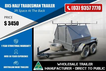 Half Tradesman Trailer - 5ft T/Top - 8x5 Epping Whittlesea Area Preview