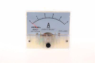 New Analog Amp Panel Meter Gauge Dc 05a 85c1-a