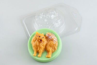 """Pomeranian"" dog plastic soap mold soap making mold mould"
