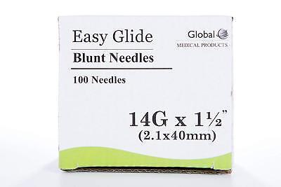 Global Medical Easy Glide Blunt Tip Needle 14 Ga X 1 12 Tip 100 Pcs