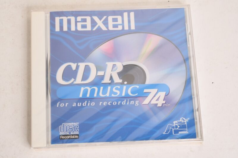 Maxell CD-R Music For Audio Recording 74 Min Compact Disc Digital Blank CD