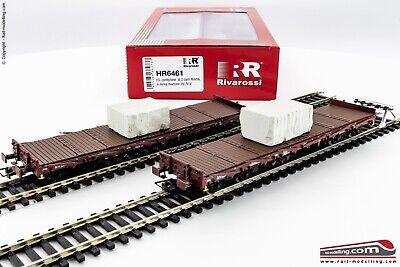 Rivarossi HR6461-H0 1:87 - Set 2 Vagónes Plataforma FS Tipo Rgmms con Carga, usado comprar usado  Enviando para Brazil