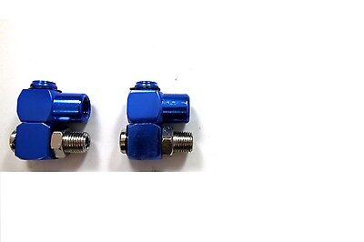 "(2) Industrial Aluminum Air Swivel Fitting Connectors Hose Tool Coupler 1/4"" NPT"