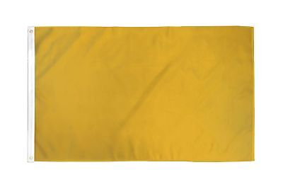2x3 Gold Solid Color 210D 2'x3' Knitted Poly Nylon DuraFlag Banner (FI)